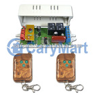 2 Channel AC 100~120V 200~240V Input and Output RF Wireless Remote Switch Latched Mode 2 Remotes with Key Chain and 1 Receiver