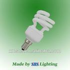 8000hrs and 12000hrs Tri-phosphor powder mini E14/E12 half spiral energy saving bulb
