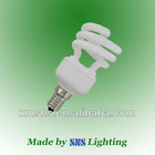 8000hrs and 12000hrs Tri-phosphor powder mini E14/E12 half spiral energy saving bulb