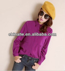 zc10005 Top Quality 180gsm Thick Viscose Plain Ladies Elegant Blouse
