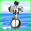 butterfly valve with worm, nylon coated disc butterfly valve
