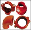Groove lock coupling