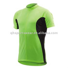 bicyle wear green sport jersey