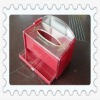 acrylic tissue box with drawers for swab and toothpick