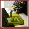 Colored Thickening Square Acrylic Food/Fruit Tray