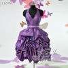 fashion knee-length taffeta ruffle evening gown ES3167