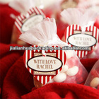 Stripes Heart Shaped Candy Hang Tags or Stickers
