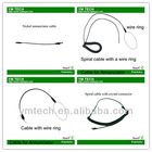 Security alarm charging cable for mobile phone