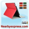 Clover-Pattern Leather Folio Case with Smart Magnetic Wake/Sleep Cover for ipad 2 for The New iPad
