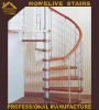 Delicate& beautiful stainless steel wood small space saving Stairs / stair