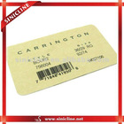 paper barcode ticket for t-shirts,shorts,pans,other garments