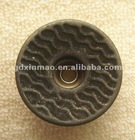 20mm Imitation Anti-Silver Metal Jeans Button With Open Top Cap