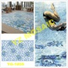 Flower Swimming Pool Mosaic Pattern with Glass Mosaic