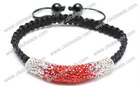 2012 Fashion Red Crystal Shamballa Tube Bracelet