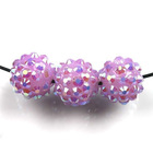 2012 New Wholesale and fashion hot sale Resin Rhinestones Ball Spacer Beads Fit Jewelry Making 110015