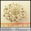 Fancy flower shape crystal charms rhinestone brooch jewelry