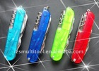 420steel pp handle plastic multi folding pocket knife PC430