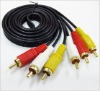 3rca male to 3rca Male rca cable, Audio video Cables