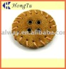 New fashion real brown leather button with different shape,size and color
