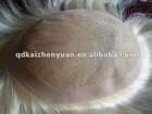 100% real human hair toupee piece for men