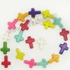 Fashion multi-color cross jewelry howlite cross beads for jewelry bracelets