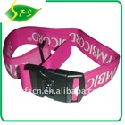 With lock + weving logo luggage belt in size 5*180cm