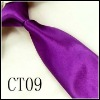 purple polyester woven children`s necktie