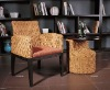 hotel seagrass rattan occasional chairs and table set