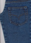 R120273-4 polyester dark blue denim fabric stock lot