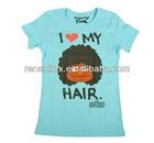 Ladies round neck cartoon design s/s t-shirt
