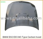 Car hood,car bonnet for B/M/W ,E92 E93 M3 Carbon hood