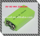 9V NIMH Battery NI-MH Rechargeable Battery 9V 110 160 180 250 mAh