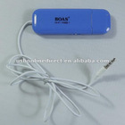 New 3.5 mm FM Transmitter Car Kit Car Music Player for iPhone/iPod/ipad/Mp3 Cellphone blue