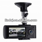 2.7 inch screen dual camera X3000 car dvr camera with GPS/G-sensor