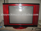 19 inch pure flat crt color television with piano paiting and revolve base