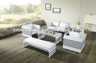 2012 NEW style fashion White PE rattan sofa