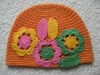 Beautiful baby crochet hats with flower New design Crochet baby beanie In stock (4055)