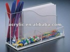 Acrylic Note Holder with Pen Holder