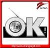 OK digital alarm clock with FM radio