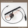 Two way radio accessories, mini XLR Cable with in-Line PTT for two way radio