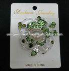 BR098 new design rhinestone brooch with pearls,fashion scarf pins