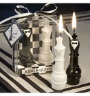 King & Queen Chess Piece Candle Favors