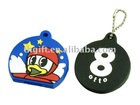 novelty fashion soft pvc keychains
