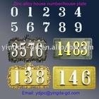 Album design 3D feel words house number/door plate