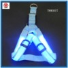 Nylon webbing led flashing dog harness led pet harness