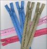 3# auto lock closed end nylon cheap zipper
