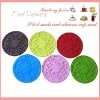 silicone round cup mat