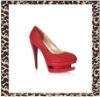 2012 fashion red crystal dress shoes for women
