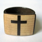 Religionary jewelry cross square bone ring