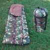 New Sleeping Bag Coated Fabric And Plush Convenient Carry green
